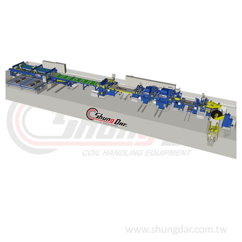Shungdar's cut to length line, provide customized production line solution.