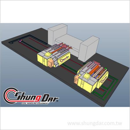 Single station die cart 3D view
