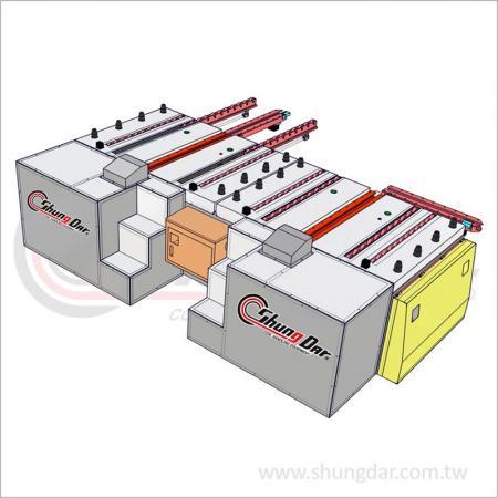 Тележка для автоматической быстрой смены пресс-форм - тележка с двумя станциями - Shung Dar - Тележка для автоматической быстрой смены пресс-форм - Тележка с двумя станциями CAR2