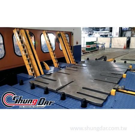 单机双模换模台车与客户模具底板