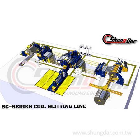 スチールスリッターライン - スチールコイルスリッター生産ラインSC