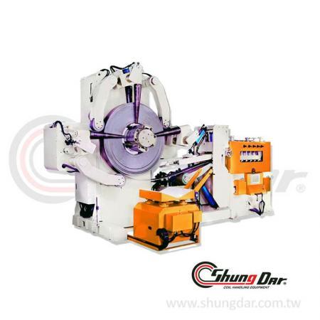 強力型厚板送料設備 (2.0 - 12.0mm / 5 - 30 tons) - 三合一料架及NC矯正送料機 SNR12