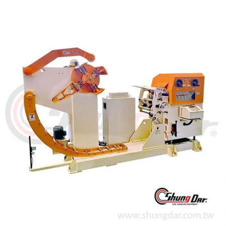 三合一料架及NC鋼捲整平送料機 (0.3 - 3.2mm / 3 - 5 tons) - 三合一料架及NC矯正送料機 SNR3