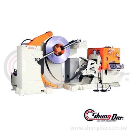 厚板三合一料架及NC鋼捲整平送料機 (1.0 - 6.0mm / 2.0 - 8.0mm / 5 - 20 tons) - 三合一料架及NC矯正送料機 SNR10