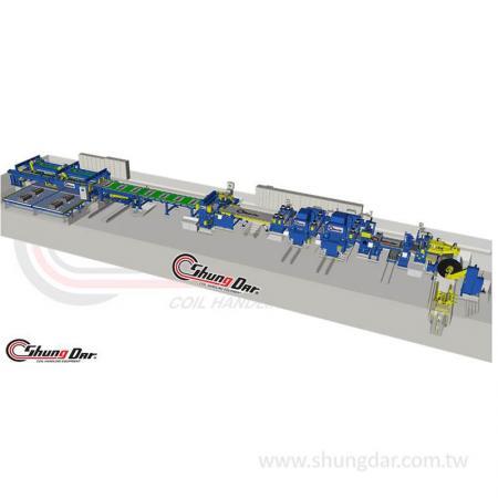 Metallspulenspannungs-Nivellierungs-Rotationsscherenlinie - Metallcoil-Zugnivellierungs-Rotationsscherenlinie
