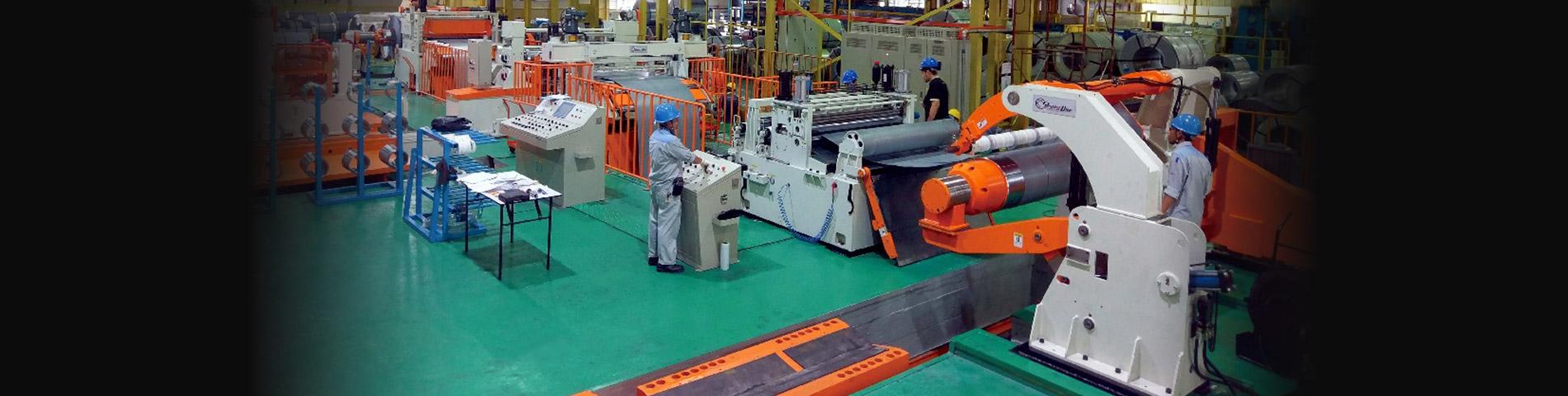 Linia do cięcia wzdłużnego stali    automatycznej