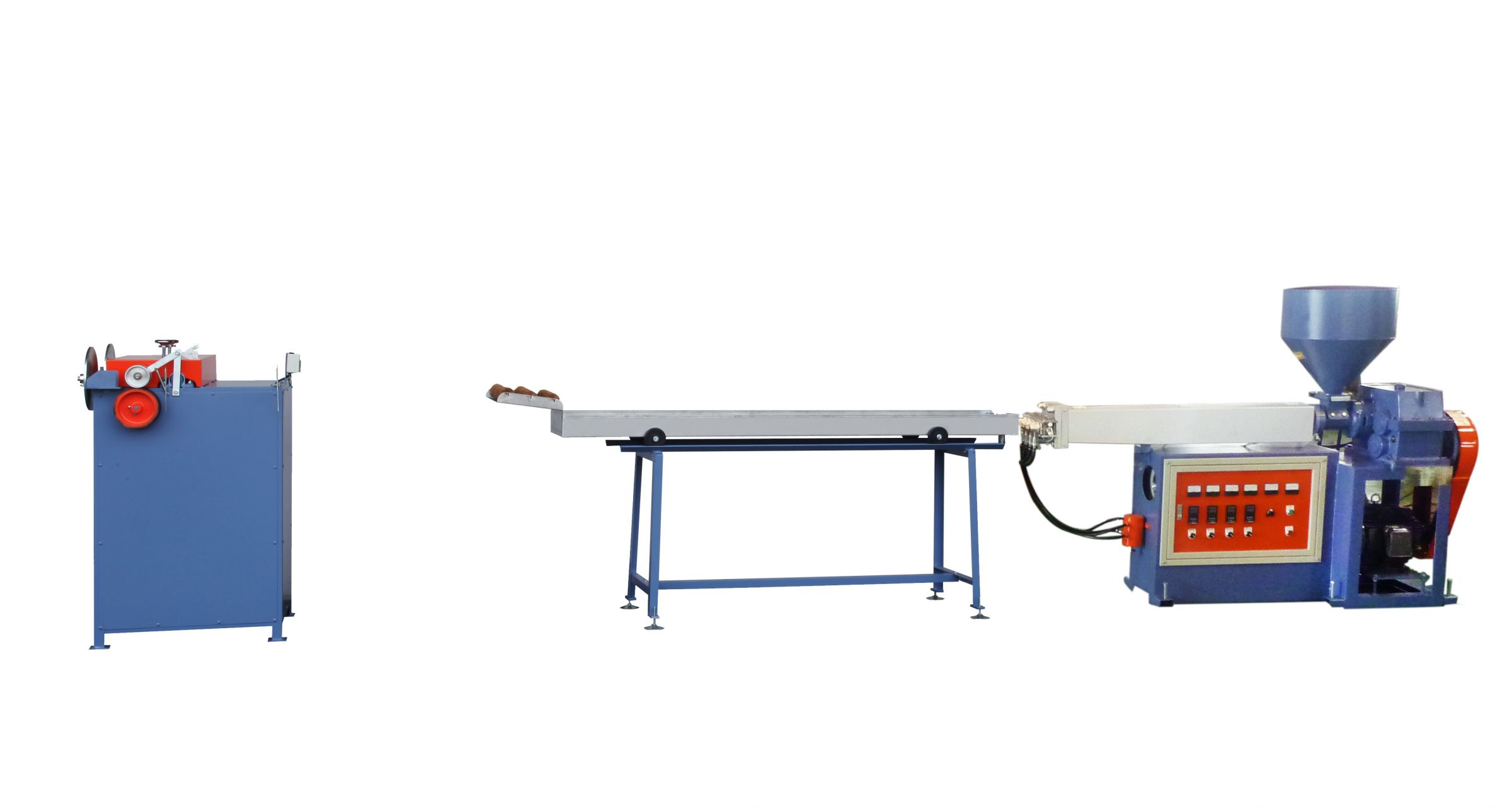PP Straw Extruding Machine, with Water Colling Tank and Cutter, Model: V-TY-65M