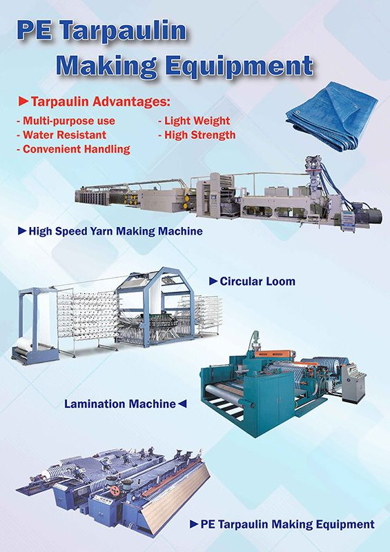 PE Tarpaulin Making Equipment
