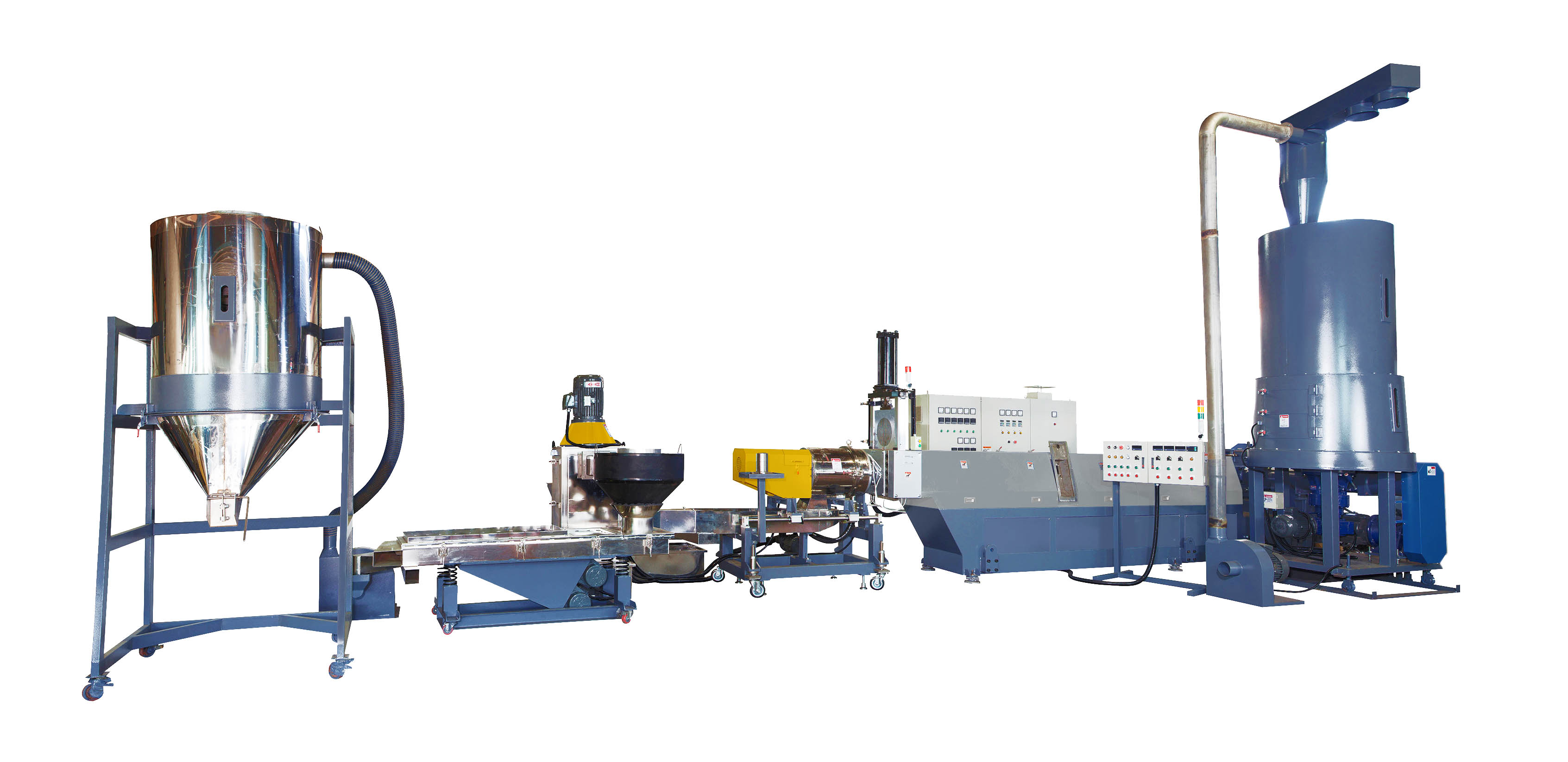 Plastic Waste Recycling Machine (Die-Face Cut with Side-Feeding)