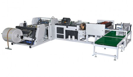स्वचालित बैग काटना और सिलाई मशीन - ऑटो बैग काटना और सिलाई मशीन