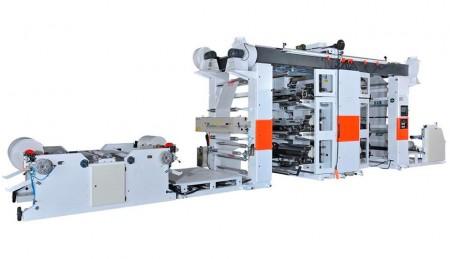 फ्लेक्सोग्राफिक प्रिंटिंग मशीन (रोल टू रोल)