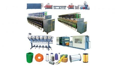 पीई / पीपी मोनोफिलामेंट रस्सी उत्पादन लाइन