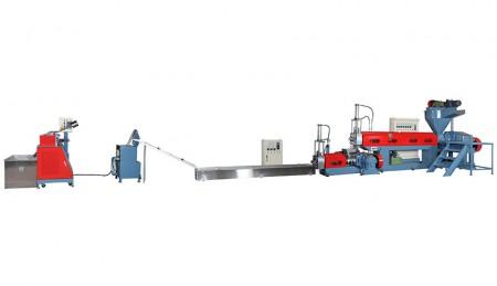 प्लास्टिक अपशिष्ट पुनर्चक्रण मशीन (फोर्स-फीडिंग के साथ स्पेगेटी प्रकार) - प्लास्टिक अपशिष्ट पुनर्चक्रण मशीन