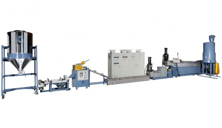 Plastic Waste Recycling Machine (Spaghetti Type with Side-feeding)