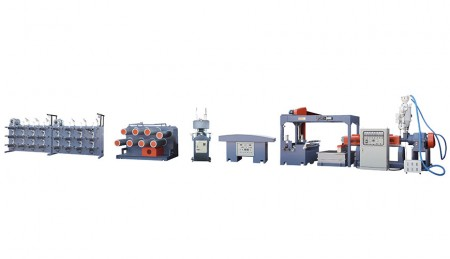 PP Polytwine Extruder - Model: TK-90EPP with fibrillating device