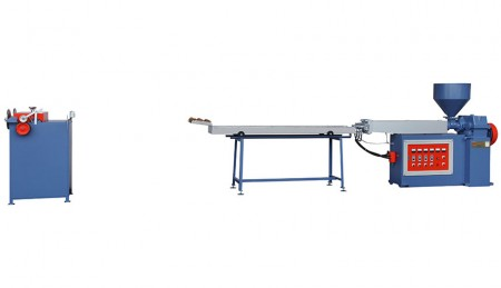 PP Straw Extruding Machine - PP Straw Extruding Machine, with Water Colling Tank and Cutter, Model: V-TY-65M
