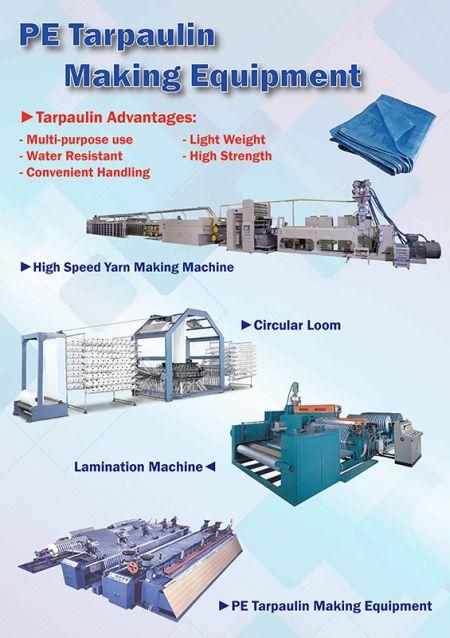PE Tarpaulin Making Equipment