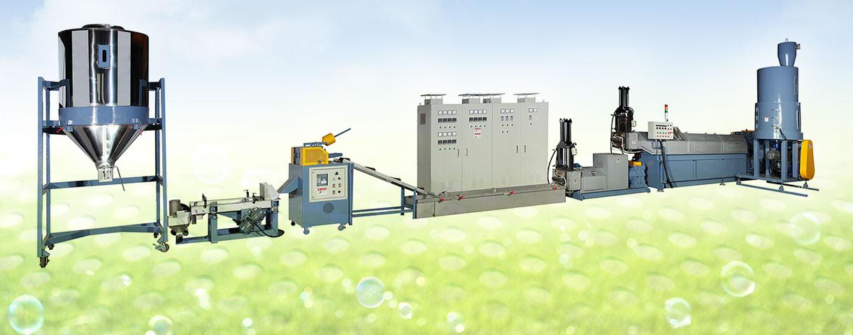Máquina granuladora de residuos plásticos