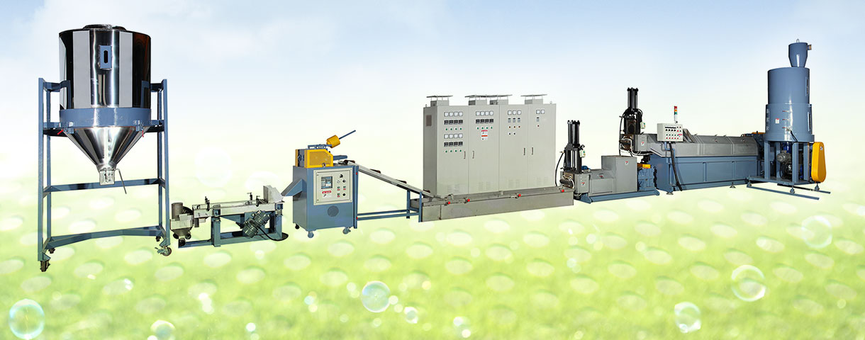 Plastic Waste Pelletizing Machine