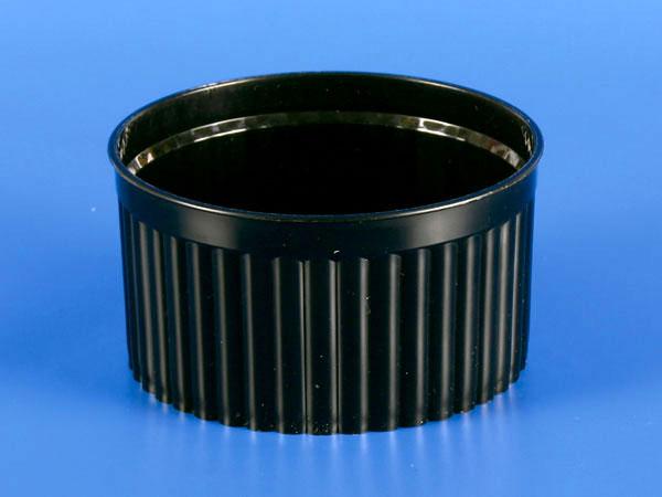 125g Plastic-PP Corrugated Cup - Black