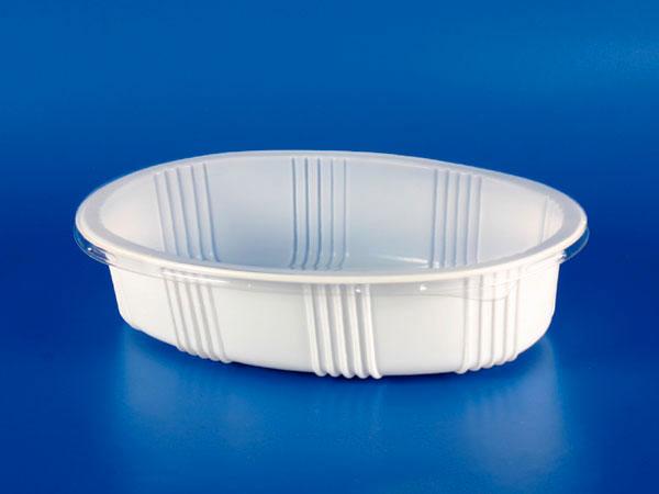 Microwave / Frozen Plastik para sa Pagkain - PP Oval Sealing Box