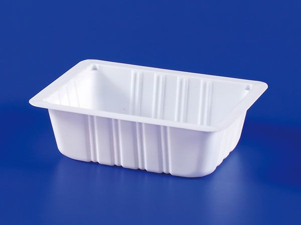PP微波冷凍食品塑膠300g豆腐封口盒
