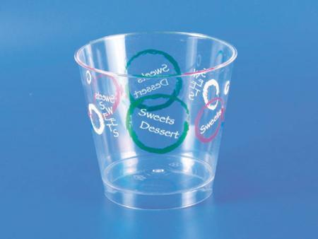 Plastic - PS Dessert Mousse Cup - Circles - PS Plastic Dessert Mousse Cup - Circles