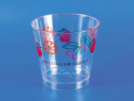 بلاستيك - كأس موس حلويات PS - فواكه - كوب حلوى بلاستيك PS - فواكه