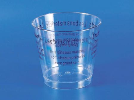 Plastic Dessert Mousse Cup - Brown
