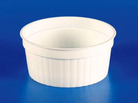 150g Plastic - PP Straight Grain Cup - White - 150g plastic-PP Straight Grain Cup - White
