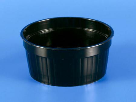 150g Plastic - PP Straight Grain Cup - Black - 150g Plastic-PP Straight Grain Cup - Black