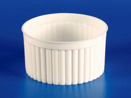 125g Plastic - PP Corrugated Cup - White - 125g Plastic Corrugated Cup - White