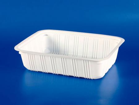 PP微波冷凍食品塑膠 S-202 封口盒 - PP微波冷凍食品塑膠 S-202封口盒