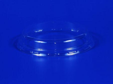 Couvercle plat convexe en plastique PET Φ80