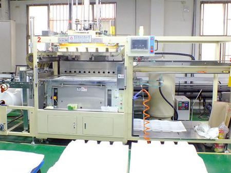 खाद्य ग्रेड प्लास्टिक कंटेनर वैक्यूम बनाने की मशीन।