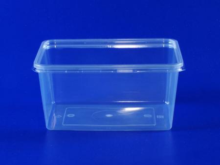 Boîte transparente en plastique d'un litre - Boîte transparente en plastique d'un litre (PP + PET)