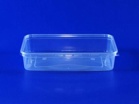Boîte à large bouche en plastique de protection de l'environnement de 0,5 litre - Boîte à large goulot de protection de l'environnement en plastique de 0,5 litre (PP + PET)