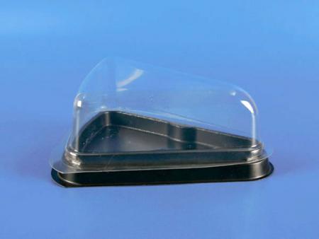 प्लास्टिक कटा हुआ केक बॉक्स - कम कवर - प्लास्टिक कटा हुआ केक बॉक्स - कम कवर (पीएस + पीईटी)