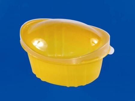 Plastic Yuanbao Cup - Small 120ML - Plastic Yuanbao Cup - Small (PP + PET) 120ML