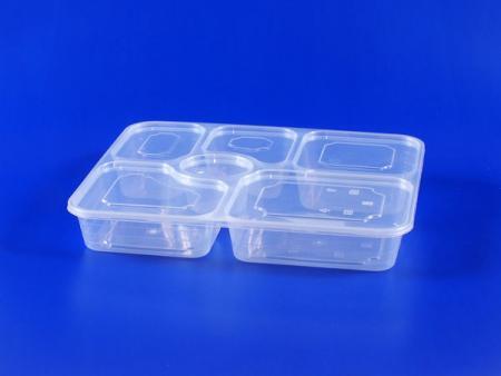 シックスグリッドシールプラスチック-PPランチボックス-オリジナル - 6グリッド密閉プラスチックランチボックス-オリジナル