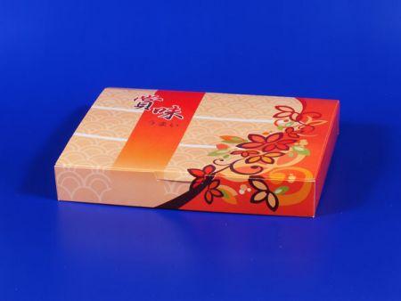 صندوق غداء ورقي - أحمر لامع - صندوق غداء ورقي - أحمر لامع
