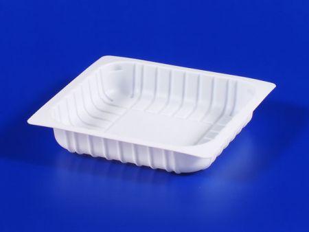 PP微波冷凍食品塑膠280g豆腐封口盒-2 - PP微波冷凍食品塑膠280g豆腐封口盒-2