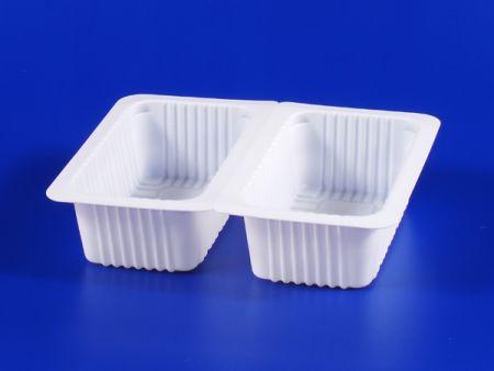 Boîte d'étanchéité en plastique 280g pour aliments surgelés pour micro-ondes PP TOFU - Boîte d'étanchéité en plastique 280g pour aliments surgelés pour micro-ondes PP TOFU