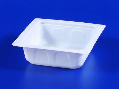 Boîte d'étanchéité en plastique 330g pour aliments surgelés pour micro-ondes PP TOFU - Boîte d'étanchéité en plastique 330g pour aliments surgelés pour micro-ondes PP TOFU