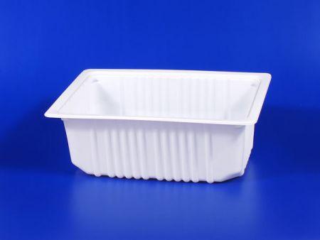 PP微波冷凍食品塑膠3500g豆腐封口盒 - PP微波冷凍食品塑膠3500g豆腐封口盒