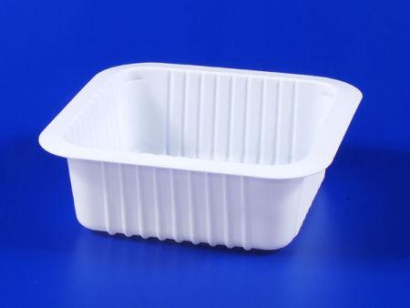 PP微波冷凍食品塑膠510g豆腐封口盒 - PP微波冷凍食品塑膠510g豆腐封口盒
