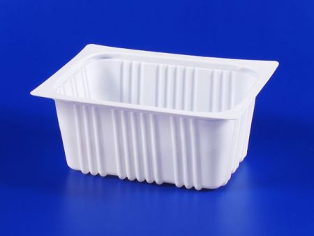 PP微波冷凍食品塑膠960g豆腐封口盒 - PP微波冷凍食品塑膠960g豆腐封口盒