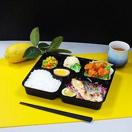 Boîte à lunch en plastique PP scellée par six grilles