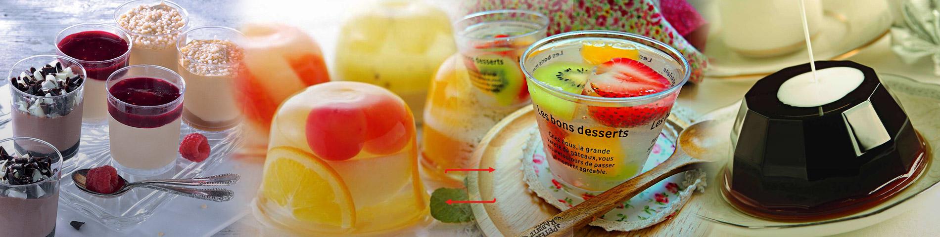 Tasse à dessert en plastique pour pudding