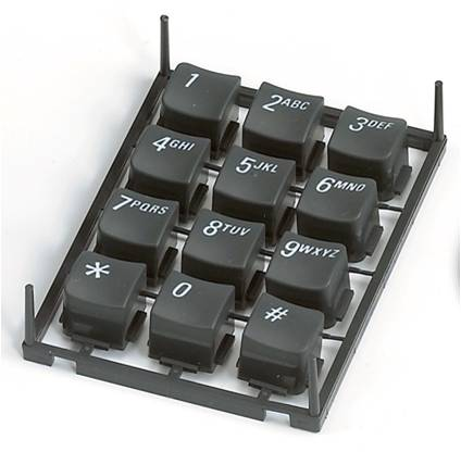 Moldeo por inyección de doble disparo aplicado en teclado, accesorios para vehículos.